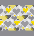 gray and yellow color love concept icon repeatable vector image