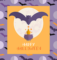 Halloween card1 vector image