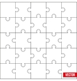 Sample of square puzzle blank template or cutting vector image