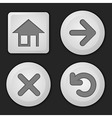 set of button vector image