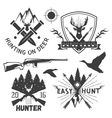 set of hunting club labels in vintage style vector image