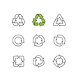 Set of sketch doodle recycle reuse symbol vector image