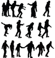 skating silhouette vector image