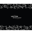 Abstract particles on black background vector image vector image