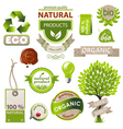 eco emblems vector image