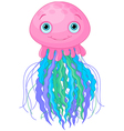 Cute Jellyfish vector image vector image