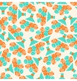 Seamless pattern with bouquets of roses in retro vector image