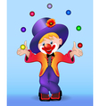 young cheerful clown vector image vector image