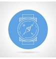 Compass blue round icon vector image