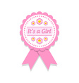 Its a girl badge vector image