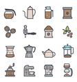 Coffee Icon Bold Stroke with Color vector image vector image