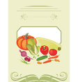 Vegetable cooking vector image