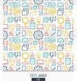 SEO wallpaper Marketing seamless pattern vector image vector image