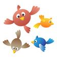Amusing birdies vector image vector image