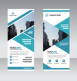 Blue triangle Business Roll Up Banner flat design vector image