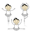 Cute little ballet dancers for your design Vector Image