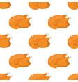 christmas turkey seamless pattern chicken vector image