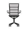 colorful chair office style object design vector image