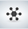connections icon isolated on vector image