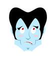 dracula surprised emoji vampire astonished vector image