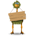 funny ostrich vector image