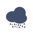 isolated rainning cloud icon vector image