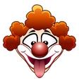 joking circus clown head vector image