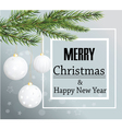 Merry Christmas card background Christmas balls vector image