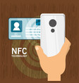 nfc payment design concept vector image