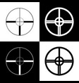 Sight sign black and white vector image