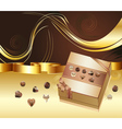 Brown Background with Chocolate Box5 vector image vector image