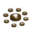 coffee web button vector image