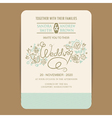 wedding invitation with hand drown flowers vector image vector image