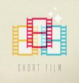 Short film photography icon concept color design vector image