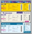 Airplane traveling tickets template vector image
