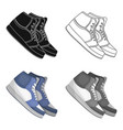 basketball shoesbasketball single icon in cartoon vector image