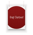 Chistmas Poster hanging on white Background vector image