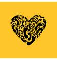 Footprint heart vector image