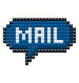 icon bit mail vector image