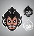Monkey head thai logo emblem vector image