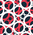 red circle seamless pattern vector image