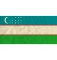 Uzbekistan paper flag vector image