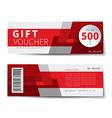 gift voucher discount template design vector image