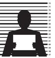 Criminal record vector image