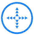outside direction rounded grainy icon vector image