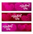 valentines day sale background set pattern vector image