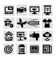 advertising and marketing icons set vector image vector image