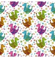 Seamless pattern cartoon colorful Dragons vector image