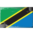 tanzania national flag vector image vector image
