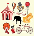 cirkus elements vector image vector image
